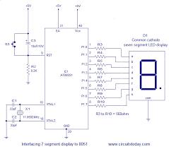 flowchart membuat sim interfacing seven 7 segment display led to 8051 micro controller