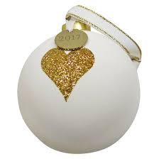 80mm gold glitter glass ornament white sugar paper