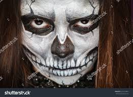 woman mask halloween young woman day dead mask skull stock photo 224121844 shutterstock