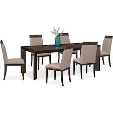 City Furniture Dining Table Gavin Table And 6 Side Chairs Brownstone Value City Furniture