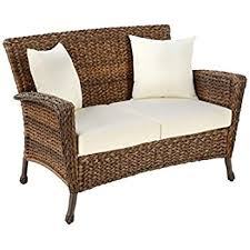 Rattan Two Seater Sofa Amazon Com W Unlimited Rustic Collection 2 Piece Patio Chairs