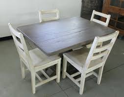 gray rustic wood dining table grey wash room chairs reclaimed