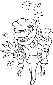 chinese new year coloring pages celebrating new year coloring
