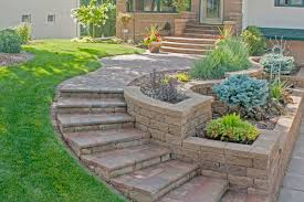 retaining walls terraces planters villa landscapes