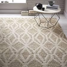 ivory rugs woven geo jute rug west elm