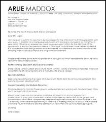 child and youth worker cover letter sample livecareer