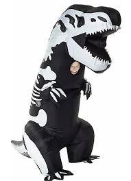 Kids Dinosaur Halloween Costume Inflatable Skeleton Rex Dinosaur Costume Dinosaur Halloween