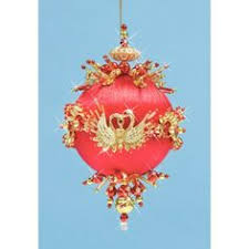 and gold bell ornaments bead craft kit by design