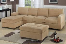 Sectional Sofa With Ottoman Small Space Light Brown Sectional Sofa With Chaise And Tufted