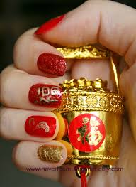 happy chinese new year everyone nevertoomuchglitter nail