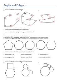 Finding Interior Angles Of A Polygon Worksheet Maths Gcse Angles Of Polygons Worksheet By Tristanjones