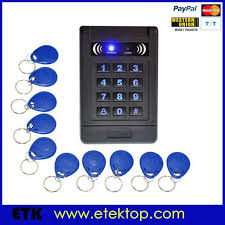 125khz rfid id keyfobs one door access control machine kit 180kg electric strike lock
