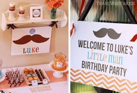 Little Man 1st Birthday Decorations Mustaches U0026 Ties A Little Man Party Team Whitaker