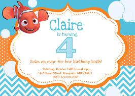 14th birthday party invitations finding nemo birthday party invitation digital file