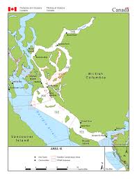 Pacific Region Map Fisheries Management Area 15 Brettell Point Powell River