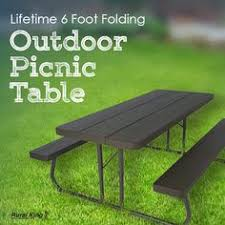 lifetime 6 folding outdoor picnic table brown 60110 it s all about the patio furniture this year and ruralking has you