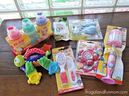 baby shower gift idea with essentials in a laundry basket