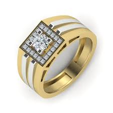 mens gold ring design buy the cartier ring for men in 10k yellow gold with ij si diamonds