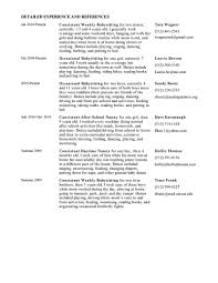 Babysitter Sample Resume by Resume Nanny Sample Resume