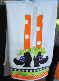 witch legs halloween door decorating contest black dish towels