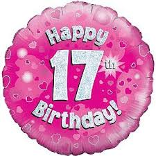 inflated balloon delivery happy 17th birthday pink balloon delivered inflated in a box with
