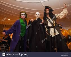 left to right actors dressed as the joker lord voldemort and