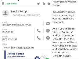 Business Card Evernote How To Use Evernote And Your Android Phone To Store Business Cards