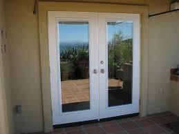 patio french doors with built in blinds door decoration