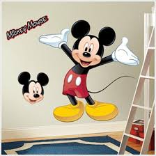 Mickey Mouse Toddler Bedroom Decals Of Giant Mickey Mouse Mickey Mouse Wall Decor For Nursery