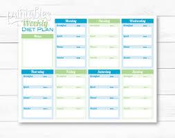 printable meal planner template weekly diet planner pdf meal planner template printable menu zoom
