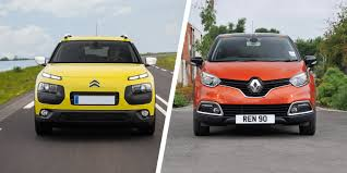 new renault captur 2017 citroen cactus vs renault captur crossover clash carwow