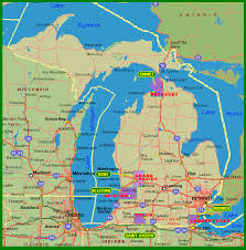 map of michigan michigan map