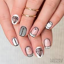 55 simple nail art designs for short nails 2016 stud nails