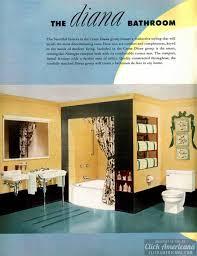 Distinctive House Design And Decor Of The Twenties A Retro Restroom Rainbow Colorful Modern Bathrooms 1949 Click