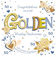 50th wedding anniversary greetings handmade golden 50th wedding anniversary greeting card cards