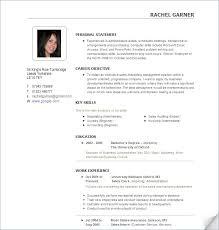 resumes templates free