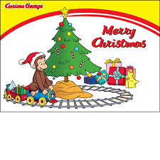 merry christmas curious george u0026 train card exclusive items
