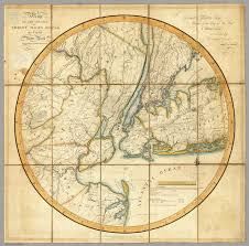 The Map Of New York by Of The Country Thirty Miles Round The City Of New York Eddy