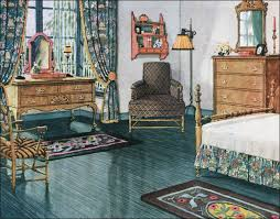 1920s home interiors 1920s colonial furniture blue green bedroom vintage