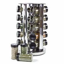 Revolving Spice Rack 20 Jars Exquisite Stainless Steel Kitchen Seasoning Rack Cruet Condiments