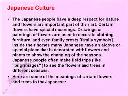 Part Of Flowers - japan importance of flowers and trees ppt download