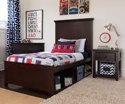 Wood Panel Bed Frame by Craft Furniture London Twin Size Panel Bed With Cubbies In