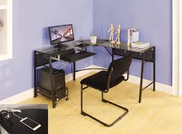 brielle computer desk with computer tower cart
