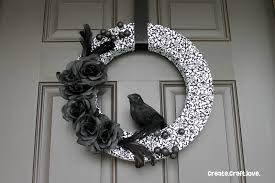 Halloween Door Wreaths 7 Hauntingly Creative Diy Halloween Wreaths Straight Up Crafty