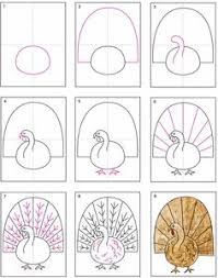 projects for how to draw a turkey follow these 12 steps