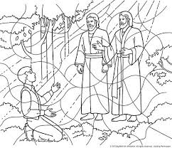 coloring page angel visits joseph joseph smith coloring page angel visits smith illustration and