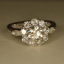 Flower Wedding Ring by Flower Style Engagement Rings 14184