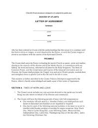 agreement agreement letter templates