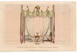 1819 drawing room window curtain original antique furniture