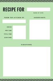 recipe card templates canva